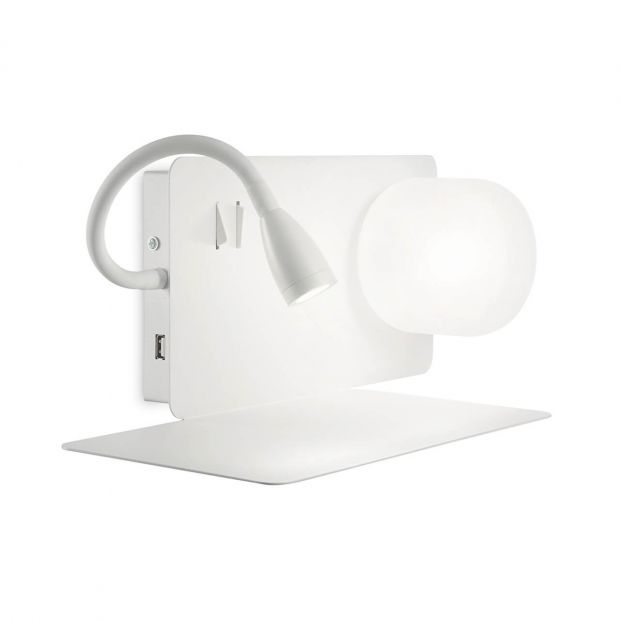 Бра Ideal Lux Book-1 AP2 Bianco